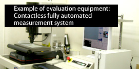 Example of evaluation equipment: Contactless fully automated measurement system