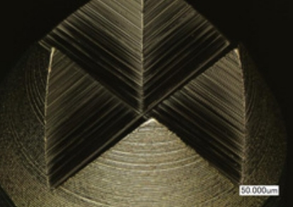 Fabrication section of crown tip (enlarged)